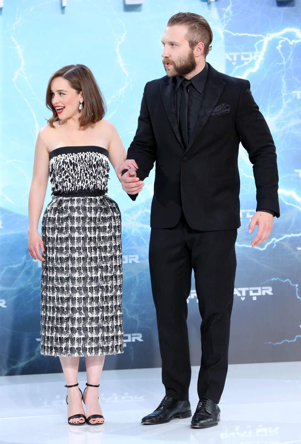51779152 Celebrities attend the European Premiere of 'Terminator: Genisys' at the CineStar Sony Center on June 21, 2015 in Berlin, Germany. Celebrities attend the European Premiere of 'Terminator: Genisys' at the CineStar Sony Center on June 21, 2015 in Berlin, Germany. Pictured: Emilia Clarke, Jai Courtney FameFlynet, Inc - Beverly Hills, CA, USA - +1 (818) 307-4813 RESTRICTIONS APPLY: USA ONLY