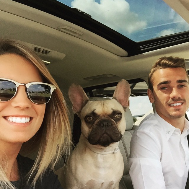 Erika Choperena and Antoine Griezmann